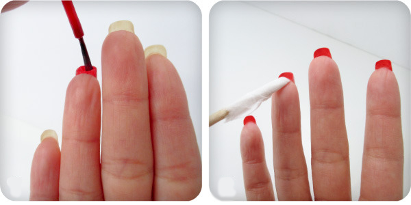 爪の裏側までネイルをする塗り方をルブタンネイルのやり方で紹介♡